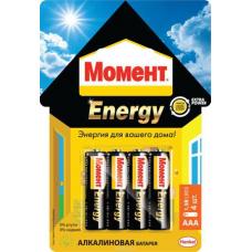 Элемент питания Момент Energy AAA (мизинец)  за 4 шт