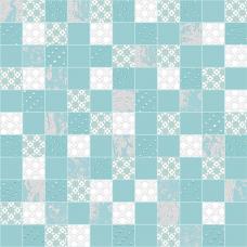 Mosaic Aquamarine (Luster,Rainfall)  DW7MSC16 305х305 Декор