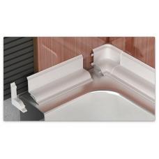 Бордюр д/ванны ПВХ белый Lemal с клеевой основой 180см + фурнитура