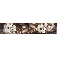 """Интерьерная панель АБС """"Гурман"""" №26 Кофейный аромат (3000х600х1,5мм) глянец"""