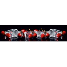 """Интерьерная панель АБС """"Гурман"""" №31 Лед и Вишня (3000х600х1,5мм) глянец"""