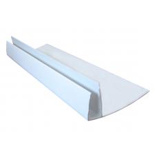 Профиль F-образный широкий белый (3м) (50шт.) КР