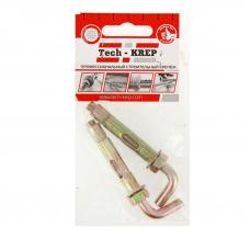 Анкер д/водонагревателя  (болт с Г-образный крюком HL) 16х80 (2 шт) - пакет Tech-Krep
