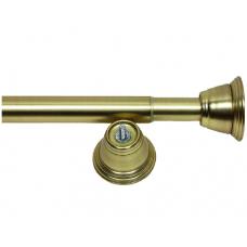 Карниз д/ванной,телескоп. 122-218, мат.золото(DC008)