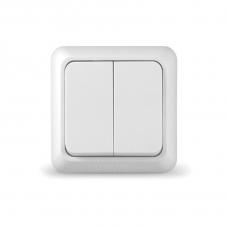 Выключатель Universal О0023 2 клавишный Олимп белый