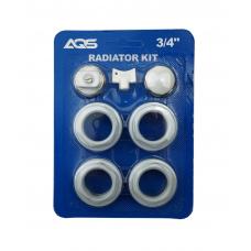Монтажный комплект д/радиатора  Ду-20(112-3/4) 'G.LAUF' 39083 (б/кроншт.) 1/50 шт