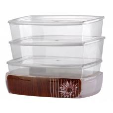 """Набор контейнеров """"ASHLEY espresso"""" д/кухни, D-14431-S"""