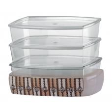 "Набор контейнеров ""ASHLEY бук"" д/кухни, D-14441-S"