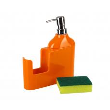 """Дозатор д/жидкого мыла """"VERONI""""оранжевый, D-13161"""