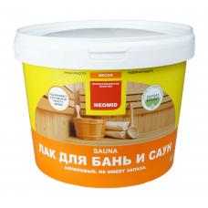 Деревозащитный состав лак sauna акриловый д/бань и саун 2500мл Неомид