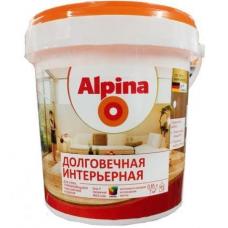 Краска водно-дисперсионная для внутренних работ Alpina Долговечная интерьерная База 1, 0,9 л