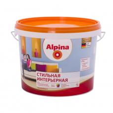 Краска водно-дисперсионная для внутренних работ Alpina Стильная интерьерная База 1, 10 л