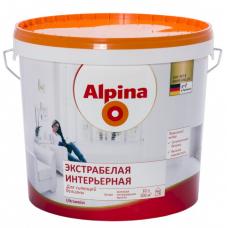 Краска водно-дисперсионная для внутренних работ Alpina Экстрабелая интерьерная белая, 10 л (НК)