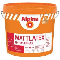 Краска водно-дисперсионная для внутренних работ Alpina EXPERT Mattlatex / Маттлатекс База 1, 10 л