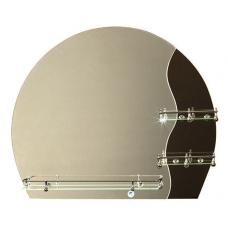 """Зеркало модель """"Оазис"""" (750 х 630мм) с полкой"""