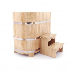 Купель овальная из кедра 78*100*100 толщина 4 см