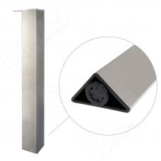 Опора для стола треугольная,H710+15мм, хром матовый, 1 шт