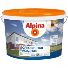 Краска водно-дисперсионная для наружних работ Alpina Долговечная фасадная База 3, 2,35 л