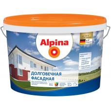 Краска водно-дисперсионная для наружных работ Alpina Долговечная фасадная База 1, 2,5 л