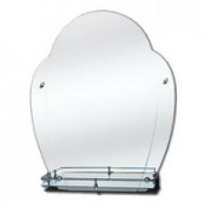 """Зеркало модель """"40"""" (510 х 560мм) с полкой"""