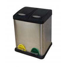 Депо ведро мусорное квадратное РВ-16-S хром. (16 л)